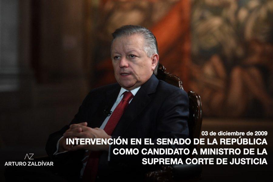 Intervención en el senado de la república como candidato a ministro de la Suprema Corte de Justicia de la Nación