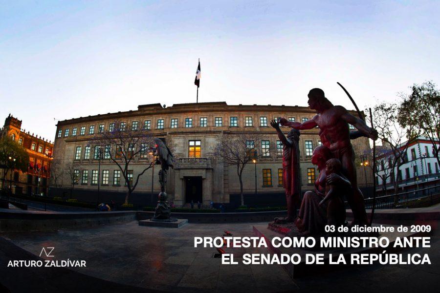Protesta como ministro en el Senado de la República