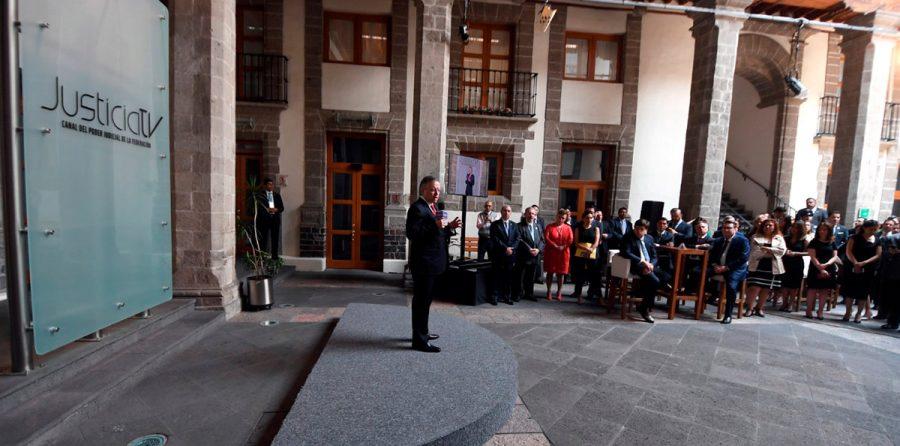 Relanzamiento de Justicia TV el canal del Poder Judicial de la Federación - Ministro Presidente Arturo Zaldivar