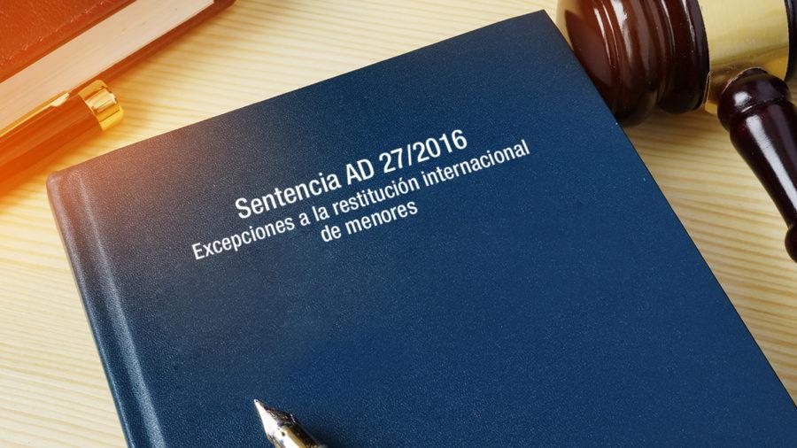 excepciones realizar restitución internacional menores