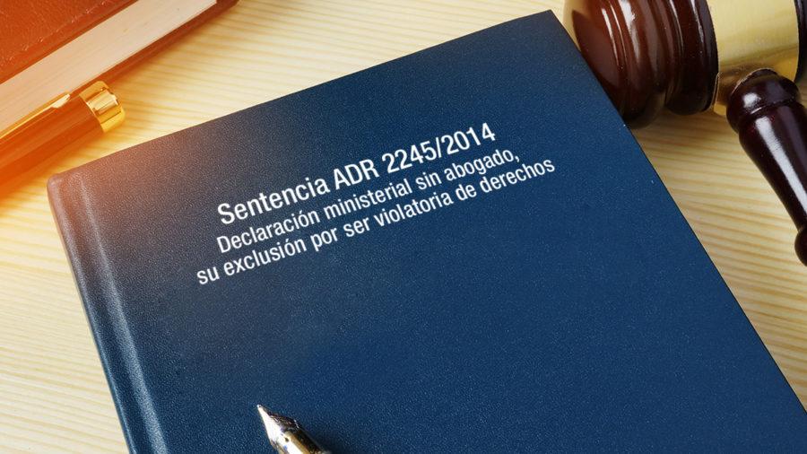 excursión declaración ministerial estudio legalidad resolución