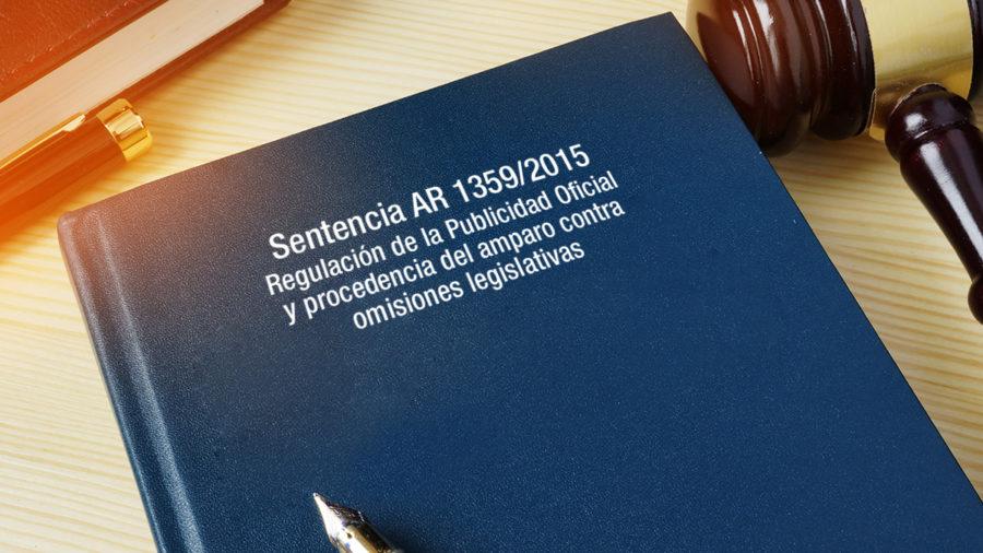regulación publicidad oficial amparo omisiones legislativas