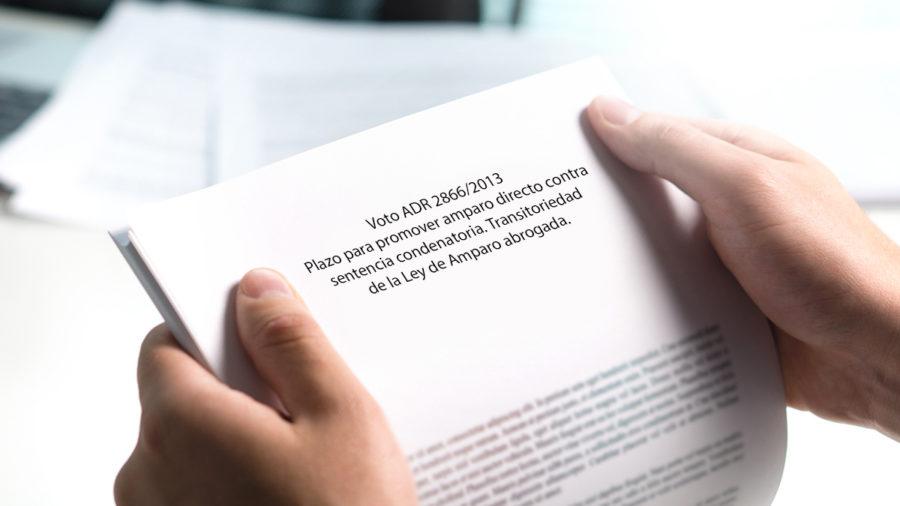 plazo para promover amparo directo contra sentencias
