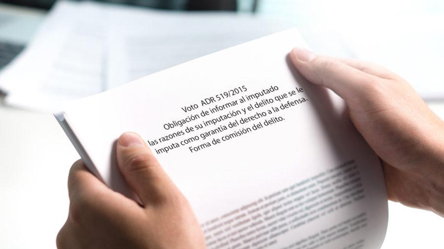 obligación de informar al imputado