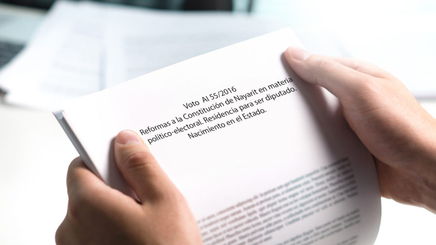 ai/55/2016 reformas a la constitución de Nayarit politico electoral