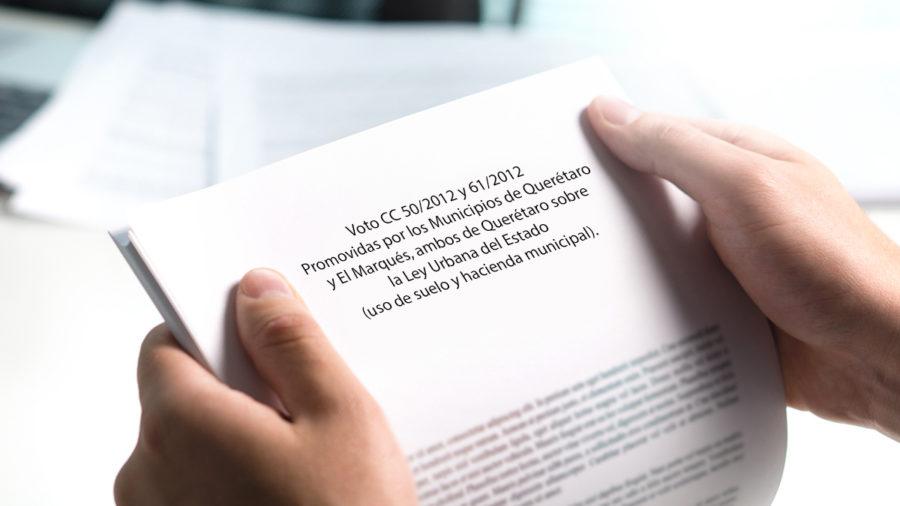 cc 5/2012 y 61/2012 promovidas por los municipios